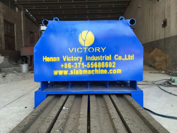 Precast H concrete post machine